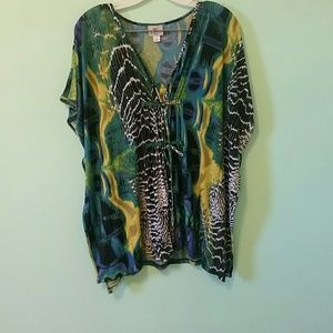 Tie-dye Worthington stretch tunic